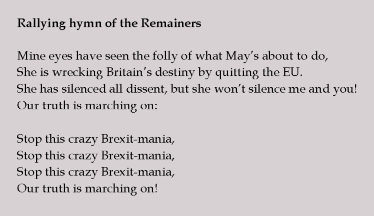 Rallying hymn of the Remainers