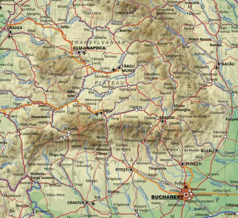 Map of Transylvania
